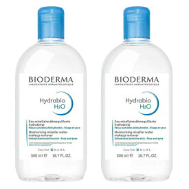 ビオデルマ イドラビオ H2O エイチツーオー (青) 500ml×2本セット クレンジングウォーター 敏感乾燥肌に BIODERMA クレンジング [9020]送料無料 朝の洗顔 拭き取り化粧水 まつエク