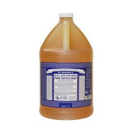 ドクターブロナー マジックソープ 3785ml 1ガロン ペパーミント Dr. Bronner's 石鹸・ボディソープ 洗顔 クレンジング [5654]送料無料 3.8L