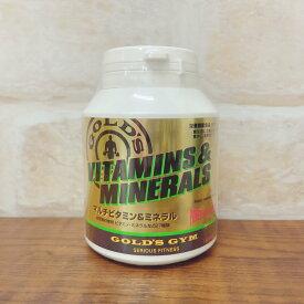 ゴールドジム (GOLD'S GYM) マルチビタミン&ミネラル 180粒 (ビタミンC含有加工食品)【栄養機能食品(ビオチン)】