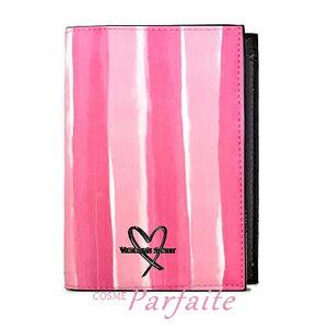 【在庫処分】ヴィクトリアシークレット ウォーターカラーストライプ ピンク 雑貨 [パスポートケース]:【メール便対応】