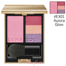ルナソル -LUNASOL- フュージングカラーパレット #EX01 Aurora Glow 7g [アイシャドウ&チークパレット]:【メール便対応】新入荷12