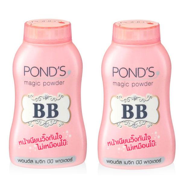 ポンズ マジックパウダー BB 100g(50g×2) 【フェイスパウダー メイクアップ UV 寝化粧 陶器肌 くすみ テカリ】【Unilever POND'S】【W_140】