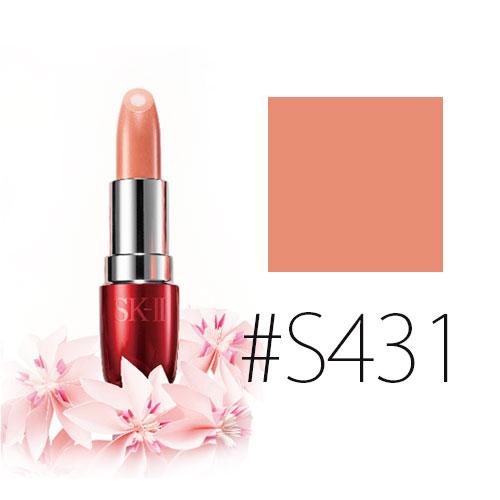 SK-II 【#S431】COLOR クリア ビューティ モイスチュア リップスティック S #エターナルプロミス 3.5g【限定】 【メイクアップ リップカラー 限定色 口紅】【SK2_エスケーツー】【W_29】