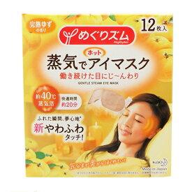 花王 めぐりズム 蒸気でホットアイマスク 完熟ゆずの香り 12枚入