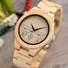 竹製 腕時計 クォーツ バンブー メンズ シンプル ボボバード BOBO BIRD MEN'S Watch