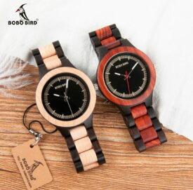 木製 腕時計 クォーツ ウッド シンプル ルミナスハンズ 男性 メンズ ボボバード BOBO BIRD MEN'S Watch Wood