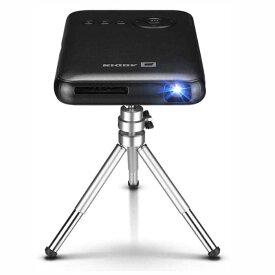 【納期:4〜7日】 AODIN スマート モバイル DLP ミニ プロジェクター 無線投影 Lightningケーブル投影 HDMI入力 日本語モデル LED光源 最大1080P対応 垂直台形補正(1G+32G 炭黒色)