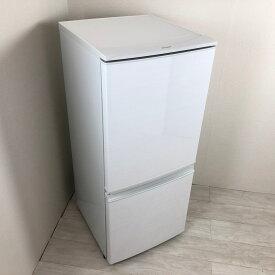 【中古】 137L つけかえどっちもドア ホワイト 2ドア冷蔵庫 シャープ 自動霜取りファン式 SJ-D14C-W 2017年〜2018年製造 おまかせセレクト 送料無料 3ヶ月保証付