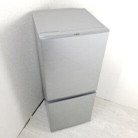 【中古】 126L スタイリッシュ 2ドア冷蔵庫 アクア AQR-13K-S 2021年製 シルバー 自動霜取りファン式 一人暮らし 単身用 高年式 送料無料 3ヶ月保証付
