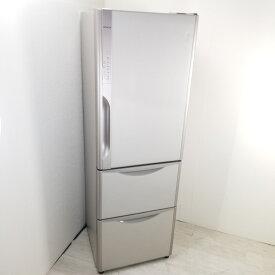 【中古】 365L 真空チルド搭載 3ドア冷蔵庫 日立 R-K370FV-T 2015年製 自動製氷 右開き 店舗近郊送料格安 まとめ買い 世帯用 ファミリー 3ヶ月保証付