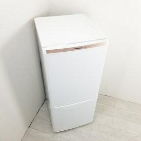 【中古】 2ドア冷蔵庫 自動霜取りファン式 138L パナソニック NR-B147W-W 2015年製 ホワイト 一人暮らし 単身用 送料無料 3ヶ月保証付