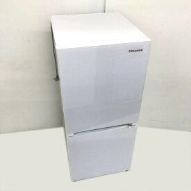 【中古】 134L 2ドア冷蔵庫 自動霜取りファン式 ハイセンス HR-G13A-W ガラスドア 2017年製 送料無料 3ヶ月保証付