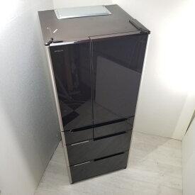 【中古】 3ヶ月保証付き 日立 6ドア冷蔵庫 R-G6200D-XT 2013年製 真空チルド フレンチドア クリスタルブラウン 3ヶ月保証付