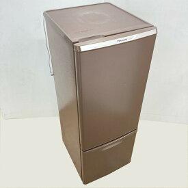 【中古】 168L 2ドア冷蔵庫 ブラウン パナソニック NR-B179W-T 2017年製 送料無料 3ヶ月保証付