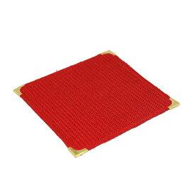 【送料無料】フォーユー スミ金コースター(赤)(10枚入)(C9626-R)(コースターおしゃれ)( 業務用卓上備品)業務用