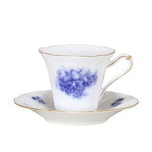 大倉陶園 岡染 くだもの(果物) カップ&ソーサー (80C-8411) (大倉陶園OKURA洋食器白磁)(カップ&ソーサー碗皿)(日本製)(送料無料)(ギフト)