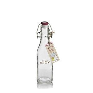 【送料無料】キルナー スクエア クリップ トップ ボトル/保存用瓶 250ml 6個入(7-0236-0201)(甘物乾果漬物調味料防湿密閉)