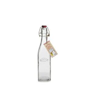 キルナー スクエア クリップ トップ ボトル 保存用瓶 550ml 6個入(AKL4002)8-0238-0202【送料無料】甘物 乾果 漬物 調味料 防湿 密閉