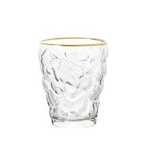【送料無料】タンブラー 260ml 6個セット ぶどうのグラス ゴールドリング アデリア/石塚硝子(3291)ギフト
