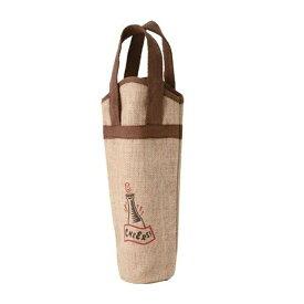【送料無料】麻ワインバッグ 1本用 ワンポイント 10枚入(7125)ワインバック ワイン用品 バー用品を安値でご提供
