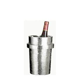 【送料無料】大阪錫器 ワインクーラー さざなみ(18-7)和風 迎春 ハンドメイド 伝統 工芸 日本製 ギフト