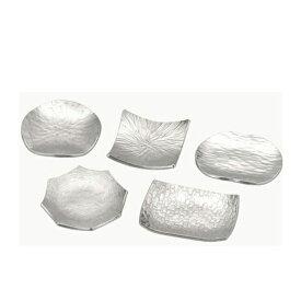 【送料無料】大阪錫器 箸置 彩飾小皿 5枚入(19-15)和風 迎春 ハンドメイド 伝統 工芸 日本製 ギフト