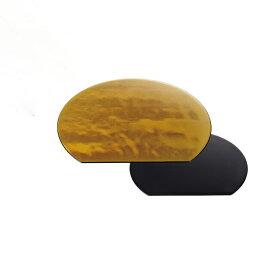 【送料無料】お盆 半月両面敷膳 金瑞雲・黒乾漆 尺1寸 3個セット(I2-073-19)(和美作日)(wabisabi)業務用