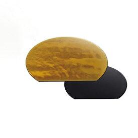 【送料無料】お盆 半月両面敷膳 金瑞雲・黒乾漆 尺3寸 3個セット(I2-073-21)(和美作日)(wabisabi)業務用