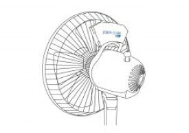ジョキン エアー ファン JOKIN AIR FAN / 二酸化塩素 エアコン ウイルス 細菌 ニオイ 消臭 対策