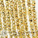 天然石パイライト(ボタンカット)ゴールド大きさ 平均 約2.3×3mm穴径 約0.4mm約135個0824楽天カード分割02P05Nov16