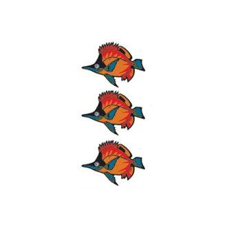 纹身封条热带鱼2纹身封条身体脸TATOO纹身纹身假货貼rutatu能