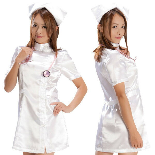 ホワイトナース コスプレ ナース 看護師 看護婦 白衣 医者 女医 制服 セクシー 大人 コスチューム キャバ ギャル 衣装 可愛い ハロウィン イベント 仮装