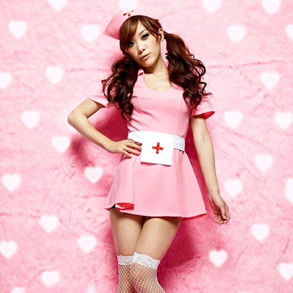 可愛いピンクのナースワンピース コスプレ ナース 看護師 看護婦 白衣 医者 女医 制服 セクシー 大人 コスチューム キャバ ギャル 衣装 可愛い ハロウィン イベント 仮装