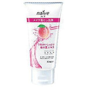 【クラシエ】【naive】ナイーブ メイク落とし洗顔フォーム 桃の葉エキス配合 ミニ 45g【桃果汁入り】【乾燥肌用】