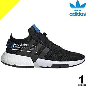 アディダス スニーカー ランニングシューズ ウォーキングシューズ 靴 メンズ レディース 通勤 軽い 軽量 ブランド 歩きやすい 通気性 黒 ブラック adidas POD-S3.1 CG6884