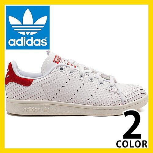 adidas アディダス スニーカー スタンスミス アディダス オリジナルス レディース 白 赤 ホワイト レッド ネイビー adidas Originals STAN SMITH W S32258 S32259