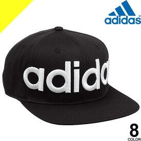[定価4,212円→3,199円] アディダス adidas キャップ 帽子 ベースボールキャップ レディース メンズ 大きいサイズ 大きめ ブランド 夏 黒 白 深め フラットバイザー ロゴ入り 刺繍
