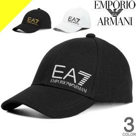エンポリオアルマーニ キャップ 帽子 メンズ ベースボールキャップ スナップバックキャップ ブランド 大きいサイズ 黒 ブラック EMPORIO ARMANI EA7 275887 9A501