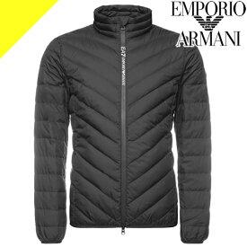 エンポリオアルマーニ ダウン ダウンジャケット メンズ 黒 ブラック ブランド 防寒着 ライトダウン キルティング 大きいサイズ EMPORIO ARMANI EA7 8NPB08 PNE1Z