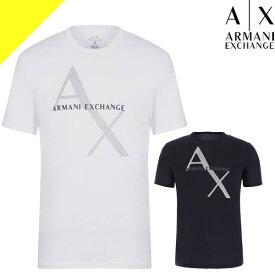 アルマーニ エクスチェンジ Tシャツ メンズ 半袖 白 ホワイト ブランド 大きいサイズ ロゴ プリント 父の日プレゼント ARMANI EXCHANGE 8NZT76 Z8H4Z [ネコポス発送]