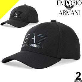 エンポリオアルマーニ キャップ 帽子 メンズ ベースボールキャップ スナップバックキャップ ブランド 大きいサイズ 黒 ブラック EMPORIO ARMANI EA7 275889 9A503