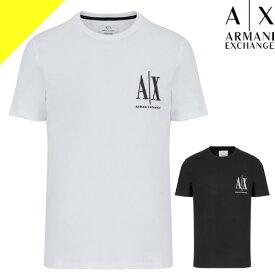 アルマーニ エクスチェンジ Tシャツ メンズ 半袖 ブランド 大きいサイズ クルーネック 丸首 プリント 無地 白 黒 ホワイト ブラック ARMANI EXCHANGE 3HZTLC ZJZ8Z [ネコポス発送]