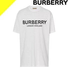 バーバリー Tシャツ 半袖 メンズ ブランド クルーネック ロゴ プリント 綿100% 大きいサイズ トップス インナー 白 ホワイト BURBERRY Logo Print Cotton T-shirt 8026017-1002 [ネコポス発送]