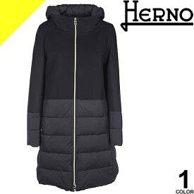 ヘルノ HERNO ダウン ダウンコート レディース アウター ロング 大きいサイズ 通勤 防寒 軽量 ウール 黒 ブラック きれいめ 冬 PI0848D 39601