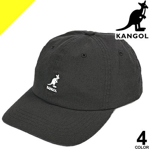 KANGOL カンゴール キャップ 帽子 メンズ レディース ワンポイント ベースボールキャップ コットン カジュアル 大きいサイズ おしゃれ 黒 ブラック Washed Baseball 100169220 [ネコポス発送]