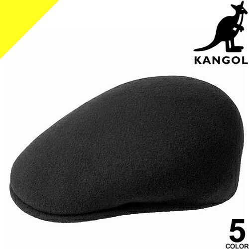 KANGOL カンゴール ハンチング 帽子 メンズ レディース ワンポイント ウール カジュアル 大きいサイズ おしゃれ 黒 ブラック Wool 504 167169001 187169001 [ネコポス発送]