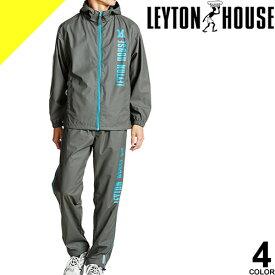 [6,490円→4,277円] LEYTON HOUSE レイトンハウス トレーニングウェア スポーツウェア ランニングウェア サウナスーツ メンズ 上下 セット 大きいサイズ おしゃれ ダイエットシェイプアップスーツ LD-200M