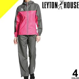 [7,150円→4,480円] LEYTON HOUSE レイトンハウス トレーニングウェア スポーツウェア ランニングウェア サウナスーツ レディース セット 上下 大きいサイズ おしゃれ ダイエットシェイプアップスーツ LD-210L