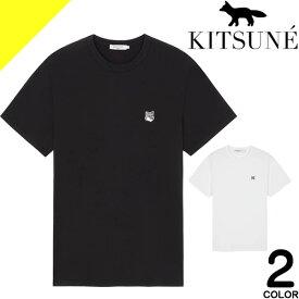 メゾンキツネ MAISON KITSUNE Tシャツ メンズ 半袖 パレ ロイヤル クルーネック ブランド 綿100% 大きいサイズ 黒 白 ブラック ホワイト TEE SHIRT PALAIS ROYAL AM00100 KJ0008 [ネコポス発送]