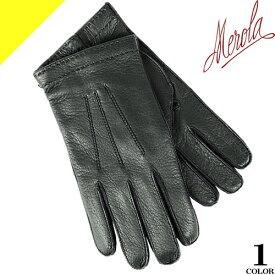 メローラ 手袋 グローブ 革手袋 メンズ スマホ対応 本革 レザー ハンドメイド イタリア製 カシミア100% 防寒 ブランド ギフト プレゼント 通勤 ビジネス MEROLA Deer Leather gloves U30 [ネコポス発送]